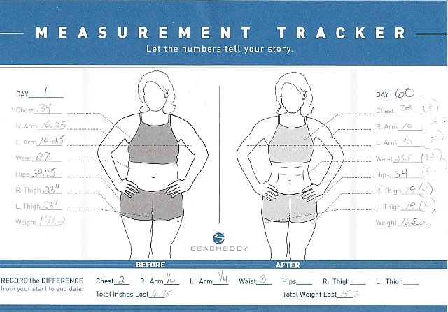 Body Measurement Tracking Chart – Beachbody Worksheets