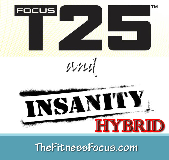 My Insanity and Focus T25 Hybrid Workout Schedule