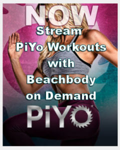 Be able to stream PiYo workouts with Beachbody On Demand anywhere and anytime.