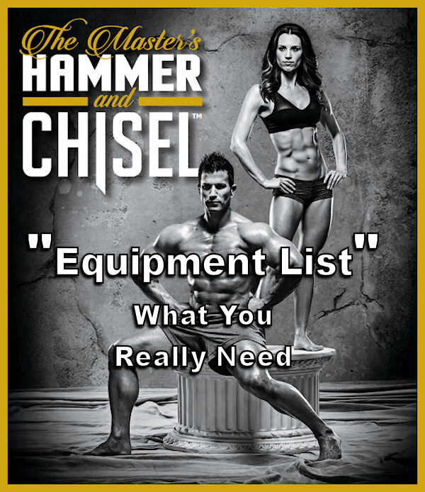 The Only Equipment You Need for the Master's Hammer & Chisel