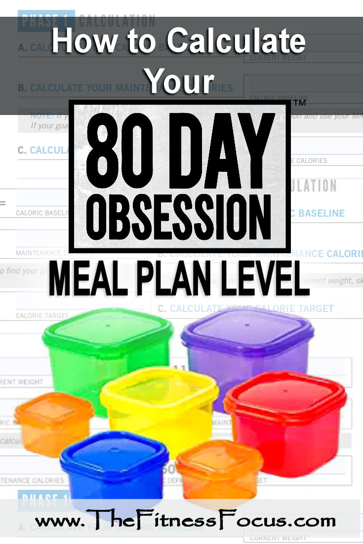 How to Calculate your 80 Day Obsession Meal Plan Level - The Fitness