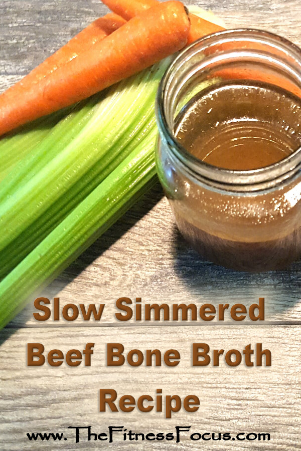 beef bone broth cooked in the crockpot